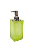 Green dispenser on a white background Stock Photos