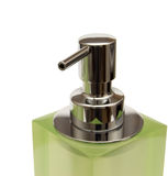 Green dispenser on a white background Royalty Free Stock Photography
