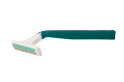 Green disposable razor Royalty Free Stock Image