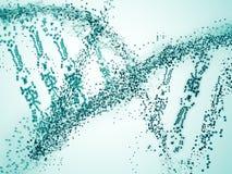Green DNA closeup. Abstract green DNA closeup. Science concept Royalty Free Stock Photo