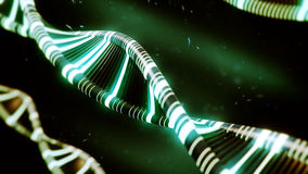 Green DNA concept with glow Royalty Free Stock Images