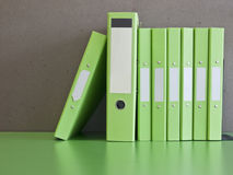 The green document files Stock Photography