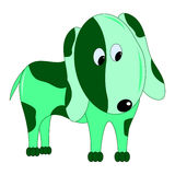 dog cartoon character vector. Green dog beautiful color funny Stock Photo