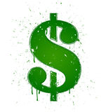 Green dollar Stock Image