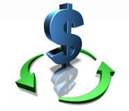 Green dollar Stock Photo