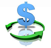 Green dollar Royalty Free Stock Photography