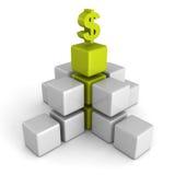Green dollar financial success bar chart graph Royalty Free Stock Image