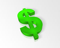 Green dollar sign Stock Photos