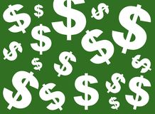 Green Dollar Sign background royalty free stock images