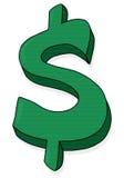 Dollar sign illustration. Green dollar symbol Stock Image