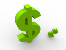 Green dollars Royalty Free Stock Photography