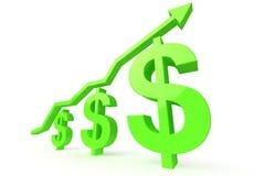 Green dollars Royalty Free Stock Photo