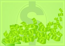 Green dollars money Royalty Free Stock Photo