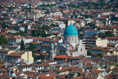 Green Dome Chruch in Florence. Green Dome Chruch and the cityscape of Florence, Italy Royalty Free Stock Image
