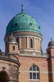 Green dome of Mirogoj Cemetery in Zagreb, Croatia royalty free stock images
