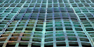 Green domed grating Royalty Free Stock Images