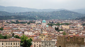 Green Domes on Florence Church Royalty Free Stock Photo