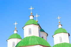 Green domes Royalty Free Stock Images