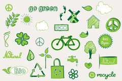 Green doodle Stock Image