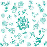 Green doodle art for kids. With white backgrounds Royalty Free Stock Image