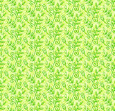 Green doodle foliage seamless pattern Royalty Free Stock Image