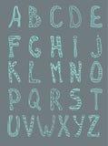 Green doodle font Stock Photos