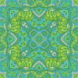 Green doodle grunge graphic seamless pattern Royalty Free Stock Photography