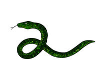 Green doodle snake Stock Images