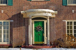 The Green Door Stock Photography