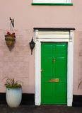 The Green Door. A green door, entrance to an old house Stock Images