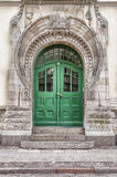 Green Door Art Nouveau Royalty Free Stock Image