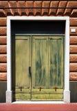 Green door background Stock Photography