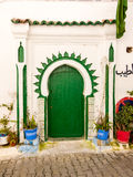 Green door blue buckets - Medina in Tangier, Morocco Stock Photography