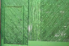 Green door detail Royalty Free Stock Images