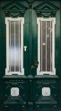 Green Door. Door detail of an Greek house in Cunda Ayvalik Stock Image