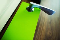 Green Door Hanger Flyer Royalty Free Stock Photo