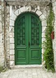 A Big old green door in Rovinj, Croatia Stock Photography