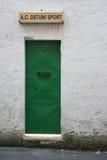 Green door in italy. Green door of soccer camp in ostuni, italy Royalty Free Stock Photo
