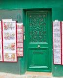 A Green Door in Montmartre Royalty Free Stock Photos