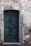 Green door at number two, Pusiano Royalty Free Stock Photography