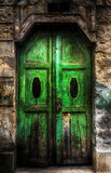 Green Door. On an old building Royalty Free Stock Photography
