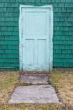 Green door Royalty Free Stock Images