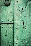 Green door. Stock Photography