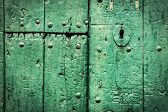 Green door. Royalty Free Stock Photos