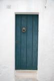 Green Door in Ostuni Stock Image