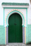 Green door in Tangier, Morocco Royalty Free Stock Image