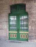 Door to trainstation Wernigerode in Germany. Green door to trainstation Wernigerode in Germany Royalty Free Stock Photos
