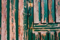 Green door weathered aged door grunge royalty free stock images