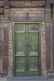 Green Door Ystad Royalty Free Stock Photo