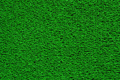 Green doormat Stock Photo